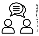 business dialogue vector icon | Shutterstock .eps vector #709289641