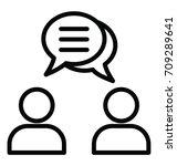 business dialogue vector icon | Shutterstock .eps vector #709289641