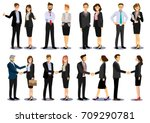 business people teamwork  set... | Shutterstock .eps vector #709290781