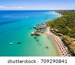 aerial  view of porto zorro ... | Shutterstock . vector #709290841