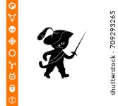puss in boots vector icon | Shutterstock .eps vector #709293265