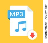 download mp3 icon. file with...