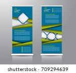 roll up banner stand template.... | Shutterstock .eps vector #709294639