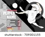 illustration of soccer players ...   Shutterstock .eps vector #709301155