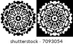 black and white floral ornament | Shutterstock .eps vector #7093054