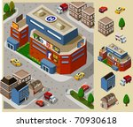 set of very detailed isometric... | Shutterstock .eps vector #70930618