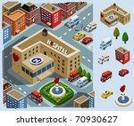 hospital area. set of very...   Shutterstock .eps vector #70930627