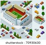 stadium of soccer. set of very... | Shutterstock .eps vector #70930630