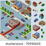 shopping and grocery. set of... | Shutterstock .eps vector #70930633