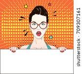 pop art vintage advertising... | Shutterstock .eps vector #709307161