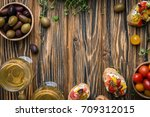 traditional italian appetizer ... | Shutterstock . vector #709312015