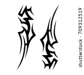 tribal tattoo art designs.... | Shutterstock .eps vector #709312519