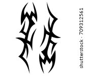 tattoo tribal vector design.... | Shutterstock .eps vector #709312561