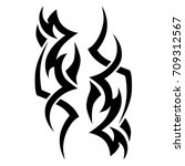 tattoo tribal vector design.... | Shutterstock .eps vector #709312567