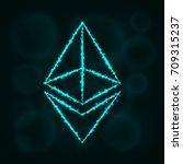 ethereum vector icon. ethereum... | Shutterstock .eps vector #709315237