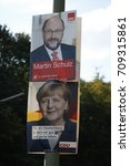 Small photo of SEPTEMBER 4, 2017 - BERLIN: an election poster showing German Chancellor Angela Merkel and her challenger Martin Schulz to the upcoming general elections in Germany.