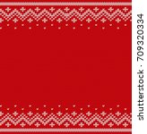 knit design. christmas seamless ... | Shutterstock .eps vector #709320334