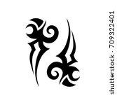 tribal tattoo art designs....   Shutterstock .eps vector #709322401