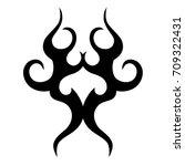 tribal tattoo art designs.... | Shutterstock .eps vector #709322431