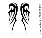 tribal tattoo art designs.... | Shutterstock .eps vector #709322455