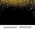 bright luxurious golden... | Shutterstock .eps vector #709322929