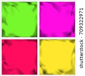 series of abstract halftone... | Shutterstock .eps vector #709322971