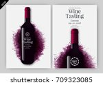 idea for wine design  product... | Shutterstock .eps vector #709323085
