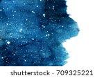 watercolor night sky background ... | Shutterstock . vector #709325221