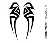 tribal tattoo art designs.... | Shutterstock .eps vector #709328971