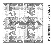 complex maze puzzle game   3 ... | Shutterstock .eps vector #709332391