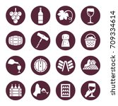 wine icons | Shutterstock .eps vector #709334614