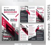 business brochure template in... | Shutterstock .eps vector #709337251