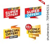 sale and special offer banner ... | Shutterstock .eps vector #709344211