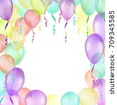 background with multicolored...   Shutterstock . vector #709345585