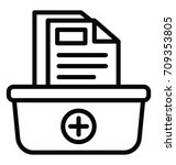 record keeping vector icon | Shutterstock .eps vector #709353805