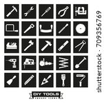collection of diy and crafting... | Shutterstock .eps vector #709356769