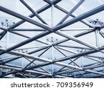 steel structure architecture... | Shutterstock . vector #709356949