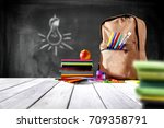 school background and free... | Shutterstock . vector #709358791