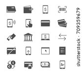 internet banking flat icons | Shutterstock .eps vector #709359679