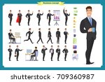 people character business set... | Shutterstock .eps vector #709360987