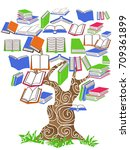 tree book   Shutterstock .eps vector #709361899