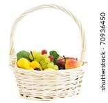 white big basket with different ... | Shutterstock . vector #70936450