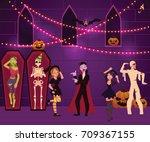 People Having Fun At Halloween...