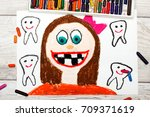 photo of colorful drawing ... | Shutterstock . vector #709371619