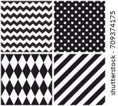 tile black and white vector... | Shutterstock .eps vector #709374175