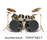 Steampunk Style Drum Kit. ...