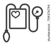 tonometer line icon  medicine... | Shutterstock .eps vector #709376794