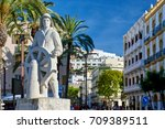 the statue dedicated to sailors ... | Shutterstock . vector #709389511