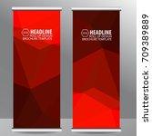 roll up business brochure flyer ... | Shutterstock .eps vector #709389889
