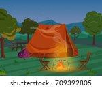 walking  hiking or sports...   Shutterstock .eps vector #709392805